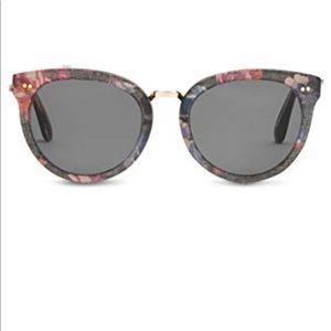 TOMS Black Floral Yvette Sunglasses